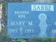 Mary M Sabbe