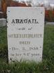 Abigail <I>Jones</I> Bartholomew