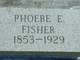 Phoebe Elizabeth <I>Williams</I> Fisher