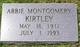 "Profile photo:  Abigail Riffe ""Abbie"" <I>Montgomery</I> Kirtley"