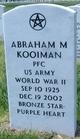 Profile photo: PFC Abraham M. Kooiman