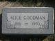 Profile photo:  Alice <I>Bannister</I> Goodman