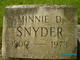 Minnie <I>Steinberg</I> Snyder