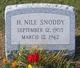 Hugh Nile Snoddy