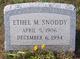 Ethel M. <I>Raybuck</I> Snoddy