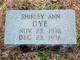 Profile photo:  Shirley Ann Dye