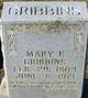 Mary Frances <I>Bright</I> Gribbins