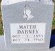Profile photo:  Mattie May <I>Cox</I> Dabney