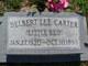 "Profile photo:  Delbert Lee ""Little Red"" Carter"
