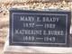 """Katherine E """"Kate"""" <I>Brady</I> Burke"""