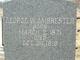 Profile photo:  George Washington Ambrester