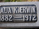 Profile photo:  Ada Mary <I>King</I> Erwin