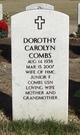 Dorothy Carolyn <I>Smith</I> Combs
