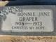 Profile photo:  Bonnie Jane Draper
