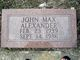 John Max Alexander