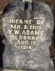 Infant Of Mr & Mrs Y.W. Adams