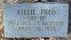 Profile photo:  Billie Fred Balentine