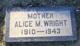 Profile photo:  Alice M. Wright
