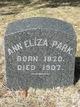 Ann Eliza <I>Palmer</I> Park