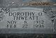 Dorothy O Thweatt