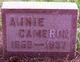 Profile photo:  Annie <I>Morrison</I> Cameron