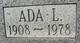 """Profile photo:  Ada L. """"Ida"""" Barton"""