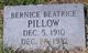 Profile photo:  Bernice Beatrice Pillow