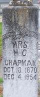 Margaret Caroline <I>Metcalf</I> Chapman
