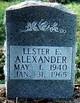 Profile photo:  Lester E Alexander