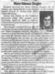 Mary Odessa <I>Gunnels, Day</I> Dingler