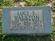 Lucy Elnora <I>Copeland</I> Walston