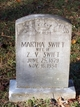 Martha <I>Stout</I> Swift