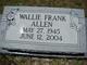 Wallie Frank Allen