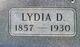 Lydia <I>Giggey</I> Gregg
