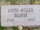 Profile photo:  Edith <I>Miller</I> Beaver