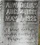 Profile photo:  A. W. DeLay