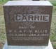 Profile photo:  Carrie Ethel Allis