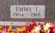 Emma Louise <I>Ellis</I> Doggett