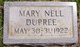 Profile photo:  Mary Nell Dupree