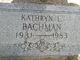 Profile photo:  Kathryn Lafronia <I>Duggan</I> Bachman