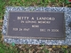 "Profile photo:  Betty Ann ""Mimi"" <I>Locke</I> Lanford"