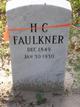 Profile photo:  H C Faulkner