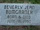 Beverly Jean Bumgarner