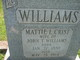 Mattie L. <I>Crist</I> Williams