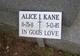 Profile photo:  Alice I. Kane