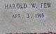 Harold W. Few