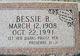 Bessie B. Adams