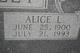 Alice Lorene <I>Hamilton</I> Hailey
