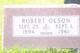 "Oscar Robert ""Robert"" Olson"