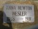 Anna <I>Newton</I> Wesler